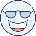 cool, emoji, emotion, emotional, face icon