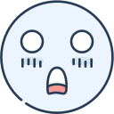 emoji, emotion, emotional, face, shock icon
