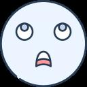 emoji, emotion, emotional, face, thinking icon