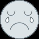 cry, emoji, emotion, emotional, face icon