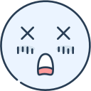 dead, emoji, emotion, emotional, face icon