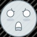 emoji, emotion, emotional, face, shock icon