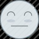 emoji, emotion, emotional, face, peaceful icon