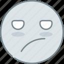 boring, emoji, emotion, emotional, face icon