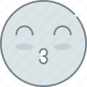 emoji, emotion, emotional, face, kissing icon