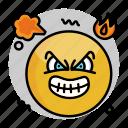 emoji, face, emoticon, mad, angry, smiley icon