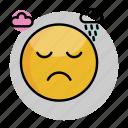 emoji, emoticon, face, sad, smiley