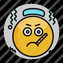 emoji, emoticon, face, sick, smiley