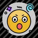 emoji, emoticon, face, smiley, surprised