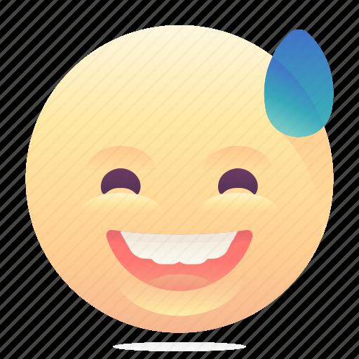 embarrassed, emoji, emoticon, smiley icon