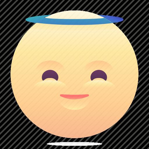 angel, emoji, emoticon, smiley icon
