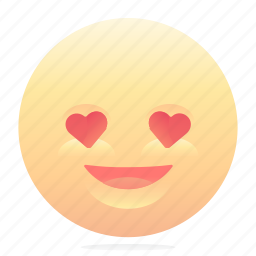 emoji, emoticon, love, smiley icon