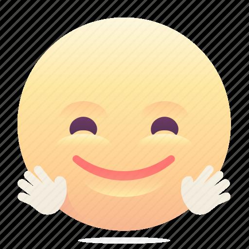 emoji, emoticon, smiley, wave icon