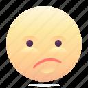 confused, emoji, emoticon, smiley