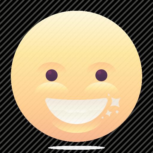 emoji, emoticon, grin, smiley icon