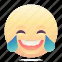 emoji, emoticon, laugh, smiley