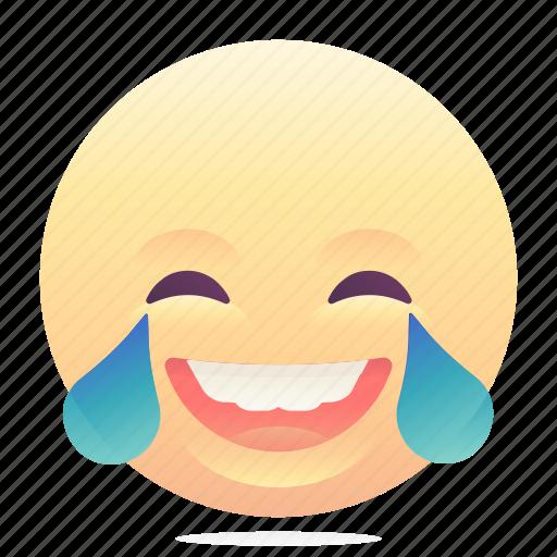 emoji, emoticon, laugh, smiley icon