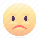 emoji, emoticon, sad, smiley icon