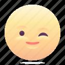 emoji, emoticon, smiley, wink