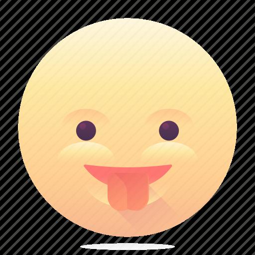 emoji, emoticon, smiley, tongue out icon