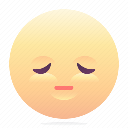 emoji, emoticon, smiley, tired, upset icon