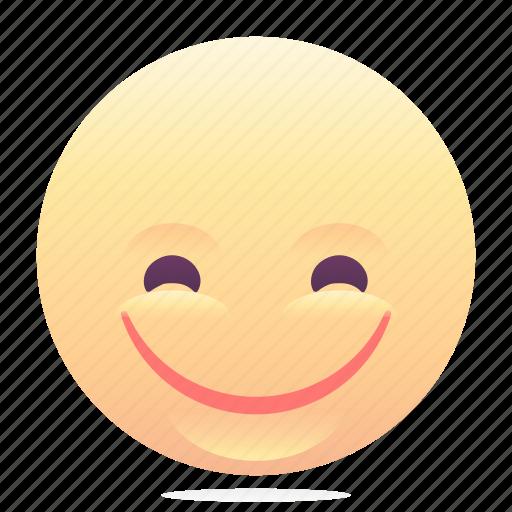emoji, emoticon, smiley, wide smile icon
