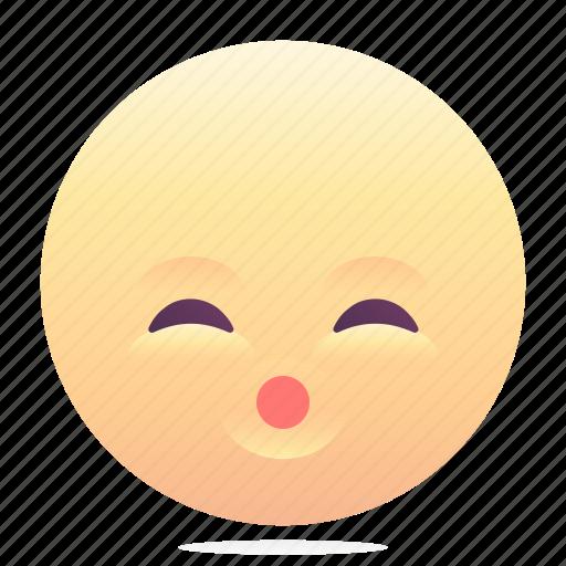 emoji, emoticon, smiley, whistle icon