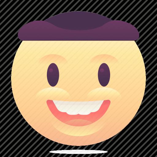 emoji, emoticon, hat, smiley icon