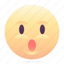 emoji, emoticon, smiley, surprised icon