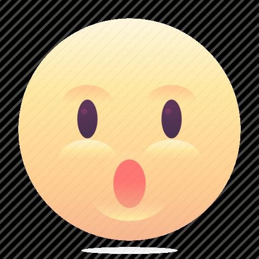 emoji, emoticon, smiley, surprised icon