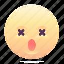 dead, emoji, emoticon, smiley