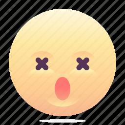 dead, emoji, emoticon, smiley icon