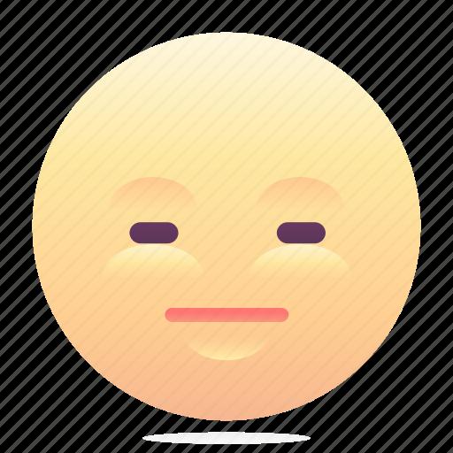 emoji, emoticon, smiley, speechless icon