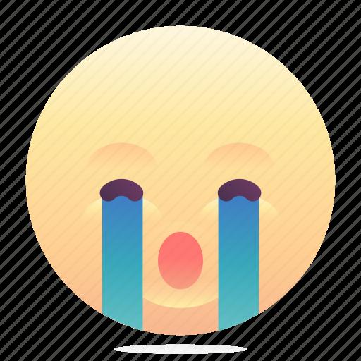 cry, emoji, emoticon, smiley icon