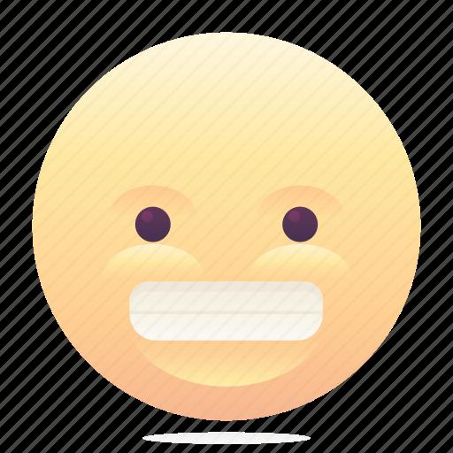 emoji, emoticon, fake smile, smiley icon