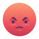 angry, emoji, emoticon, smiley icon