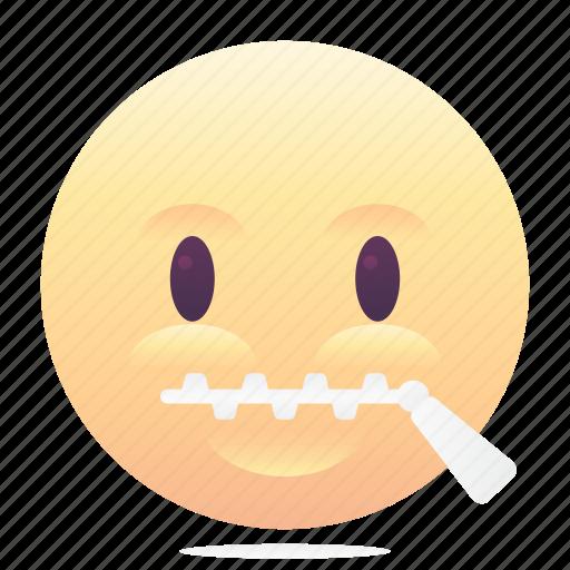 emoji, emoticon, secret, smiley icon