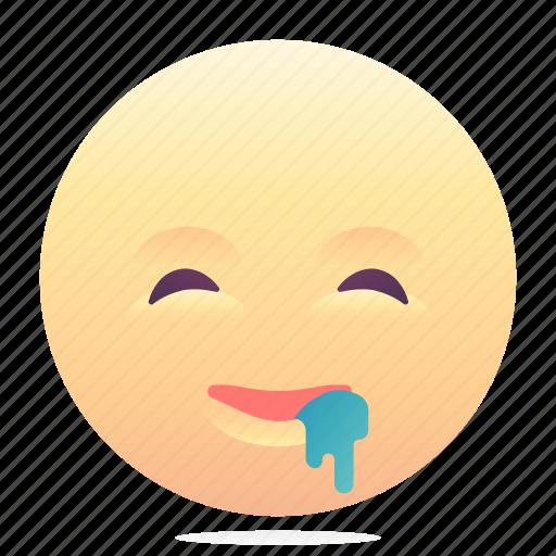 drool, emoji, emoticon, smiley icon