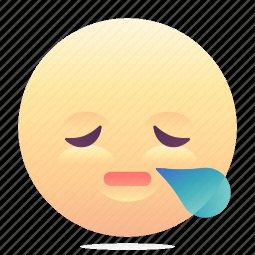 emoji, emoticon, smiley, tired icon
