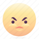 angry, emoji, emoticons, smiley icon