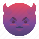 devil, emoji, emoticon, smiley icon