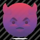 devil, emoji, emoticon, smiley