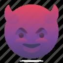 devil, emoji, emoticon, smiley icon