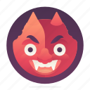devil, emoji, emoticon, smiley