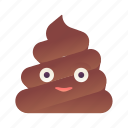 emoji, emoticon, poop, smiley icon