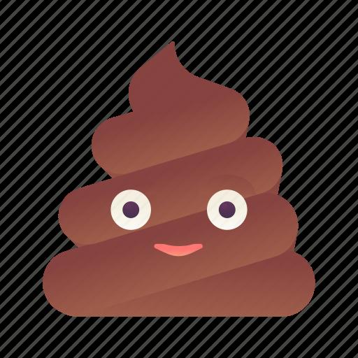 emoji, emoticon, poop, smiley icon