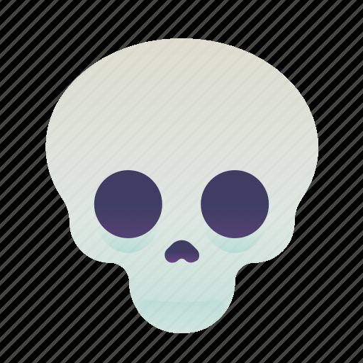 emoji, emoticon, skull, smiley icon
