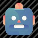 emoji, emoticon, robot, smiley