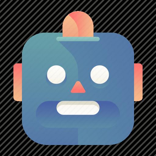 emoji, emoticon, robot, smiley icon