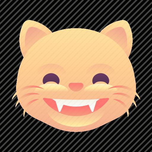 cat, emoji, emoticon, grin, smiley icon